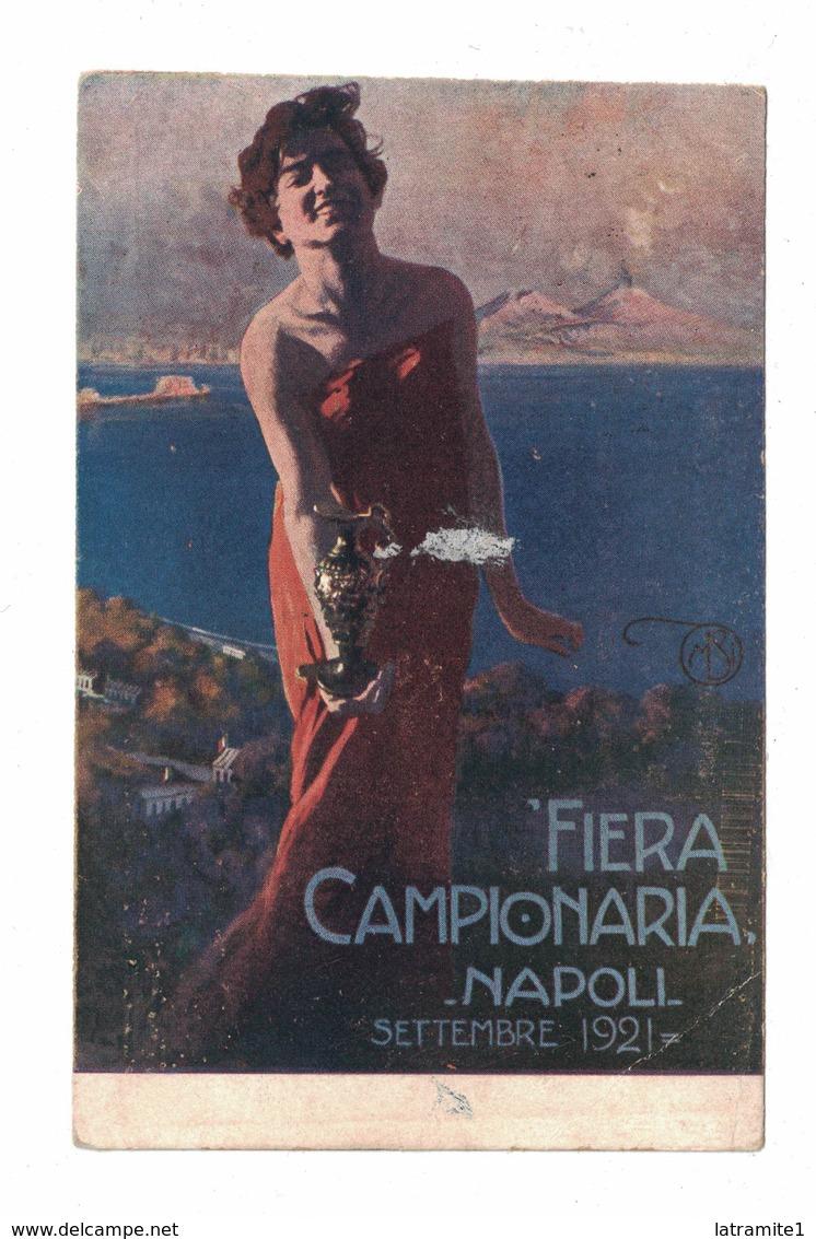 CARTOLINA CARTE POSTALE  FIERA CAMPIONARIA DI NAPOLI 1921 - Pubblicitari
