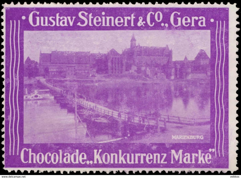 Gera: Marienburg Reklamemarke - Cinderellas