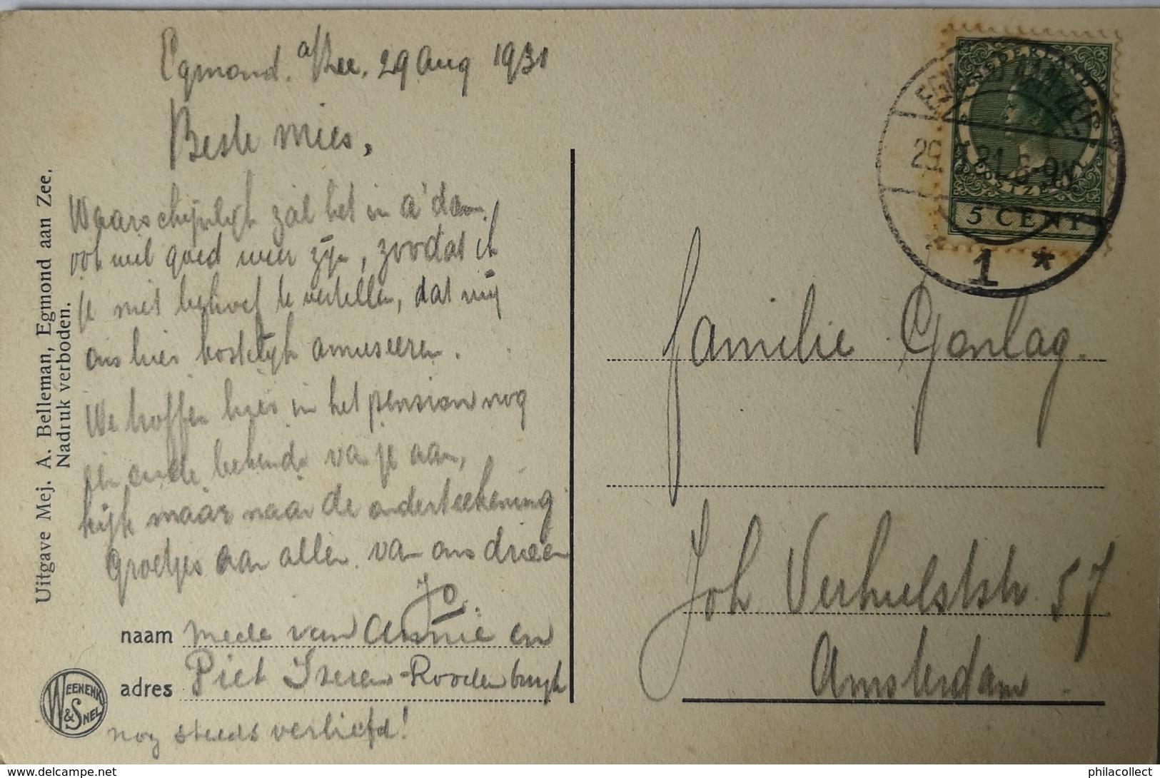 Egmond Aan Zee //  Vuurtoren J.C.J Van Speyk 1921 - Egmond Aan Zee