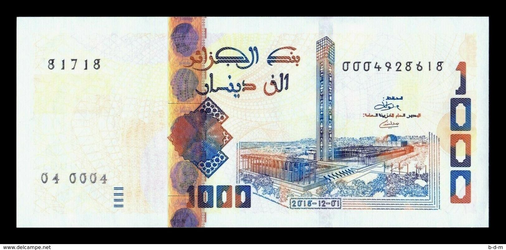 Argelia Algeria 1000 Dinars 2018 (2019) Km New Design SC UNC - Argelia