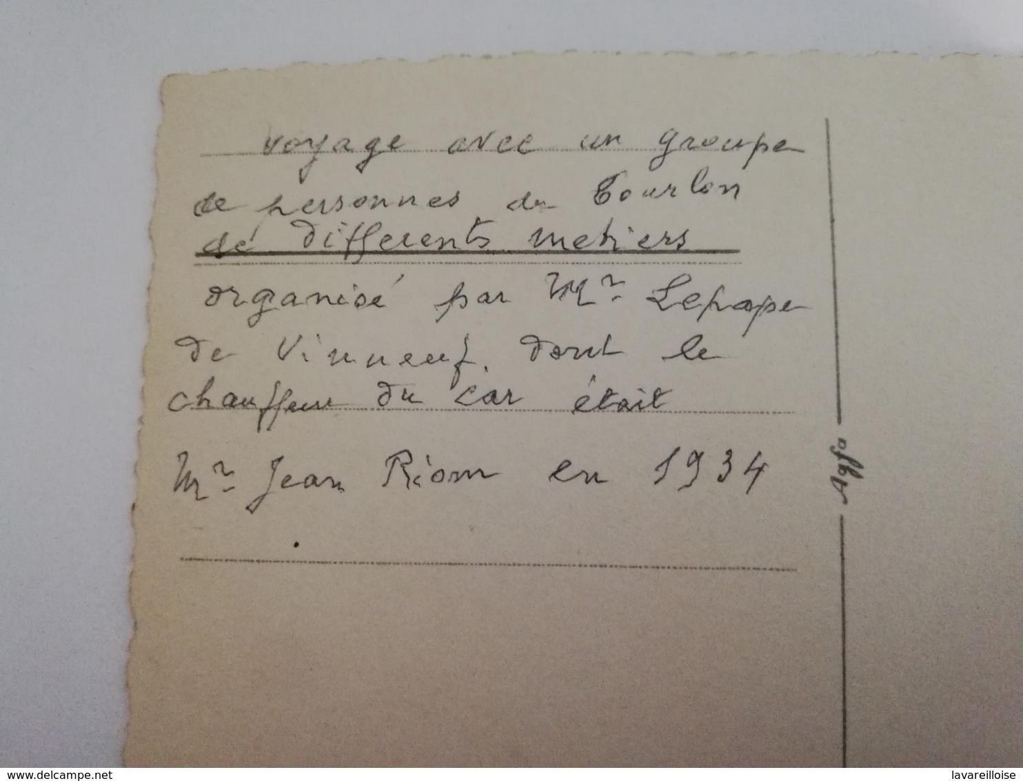 CPA 39 CARTE PHOTO LA FAUCILLE GROUPE DE TOURISTES DE L YONNE 1934 COURLON VOIR AU DOS TRES RARE BELLE CARTE !! - France