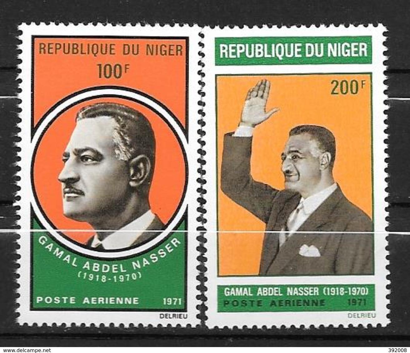 PA - 1971 - N° 146 à 147 **MNH - Gamal Abdel Nasser - Niger (1960-...)