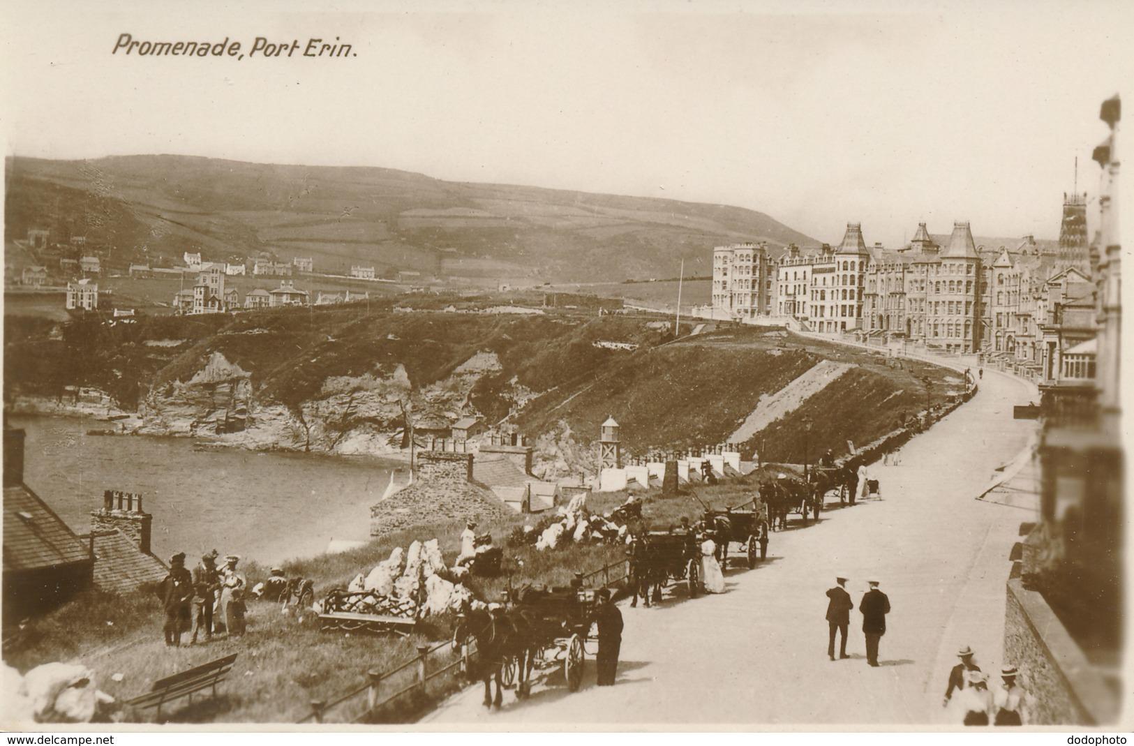 PC76598 Promenade. Port Erin. Milton. Woolstone Bros - Postcards