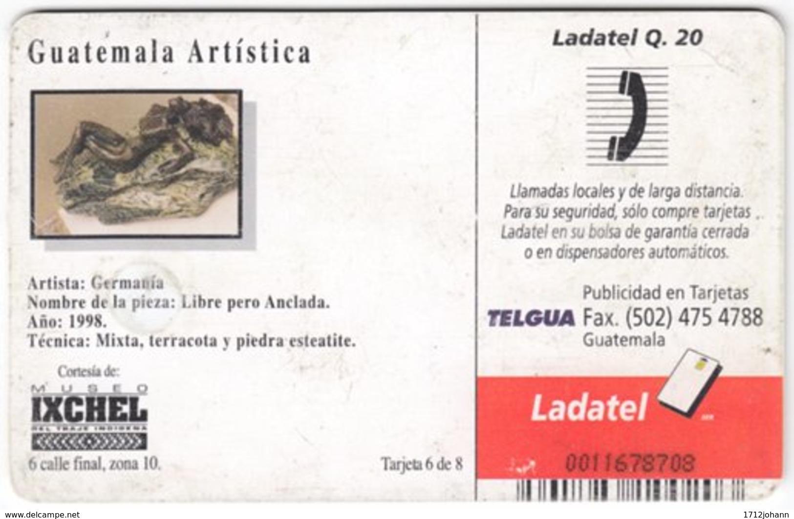 MEXICO A-651 Chip Telmex - Culture, Sculpture - Used - Mexiko