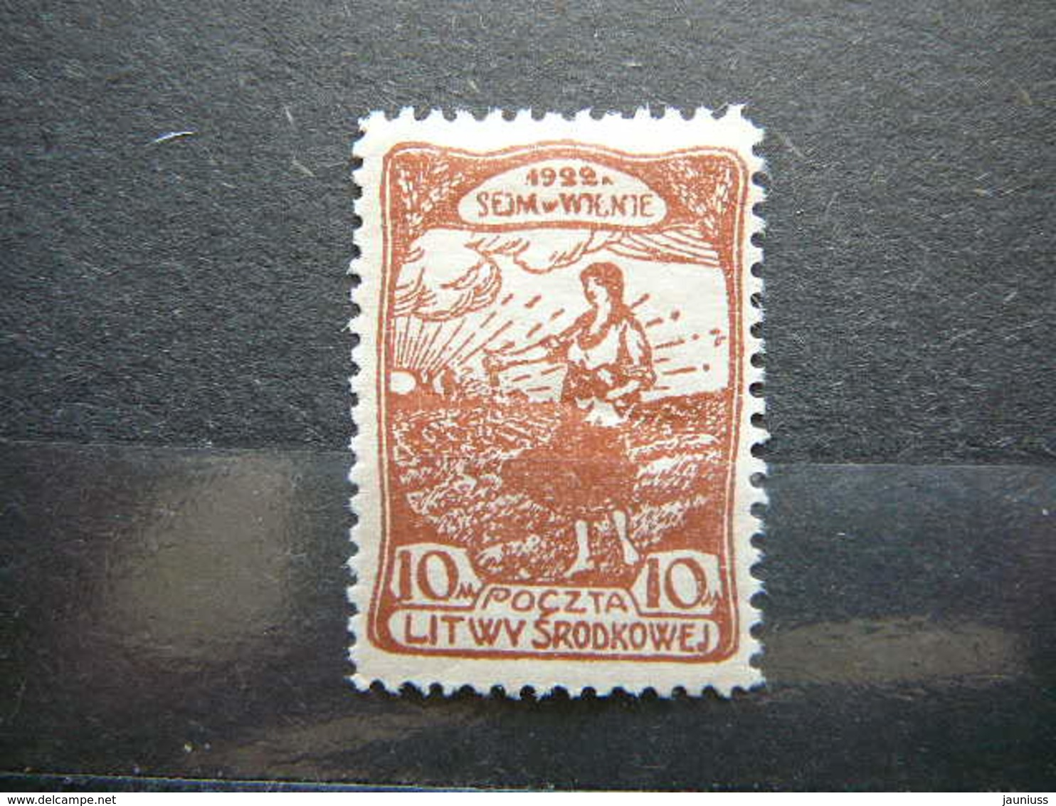 Central Lithuania Lietuva Litauen Lituanie Litouwen # 1922 MH # Mi. 44A - Lithuania