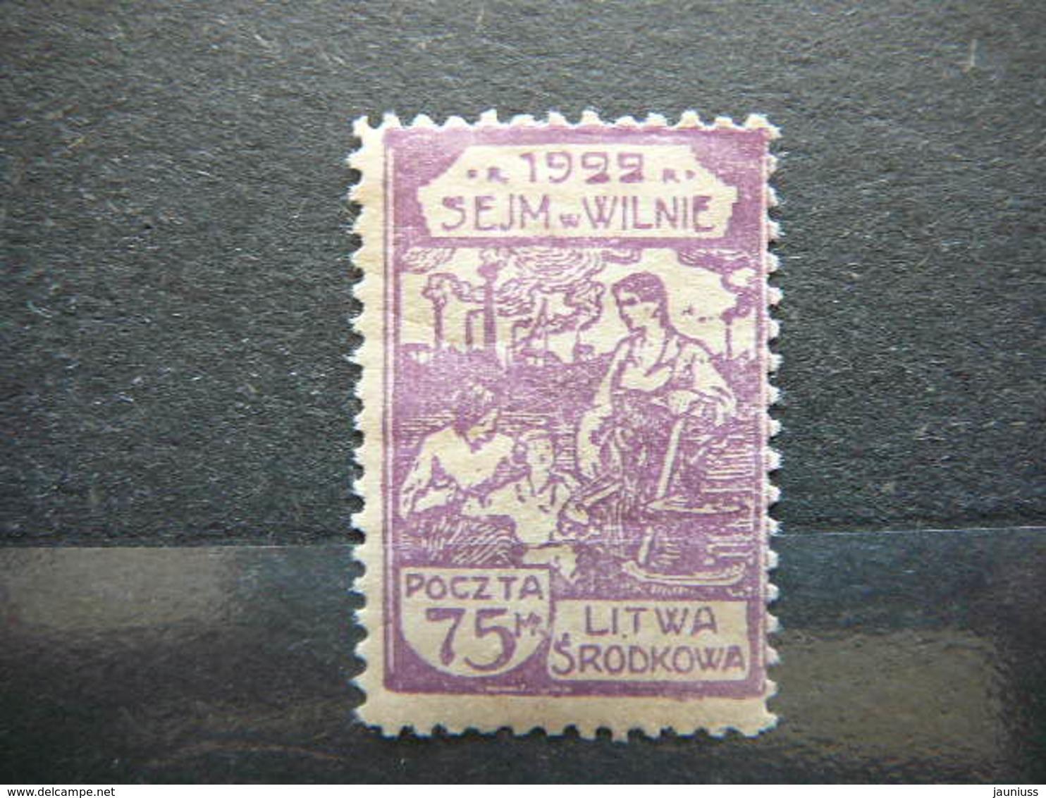 Central Lithuania Lietuva Litauen Lituanie Litouwen # 1922 MH # Mi. 47A - Lithuania