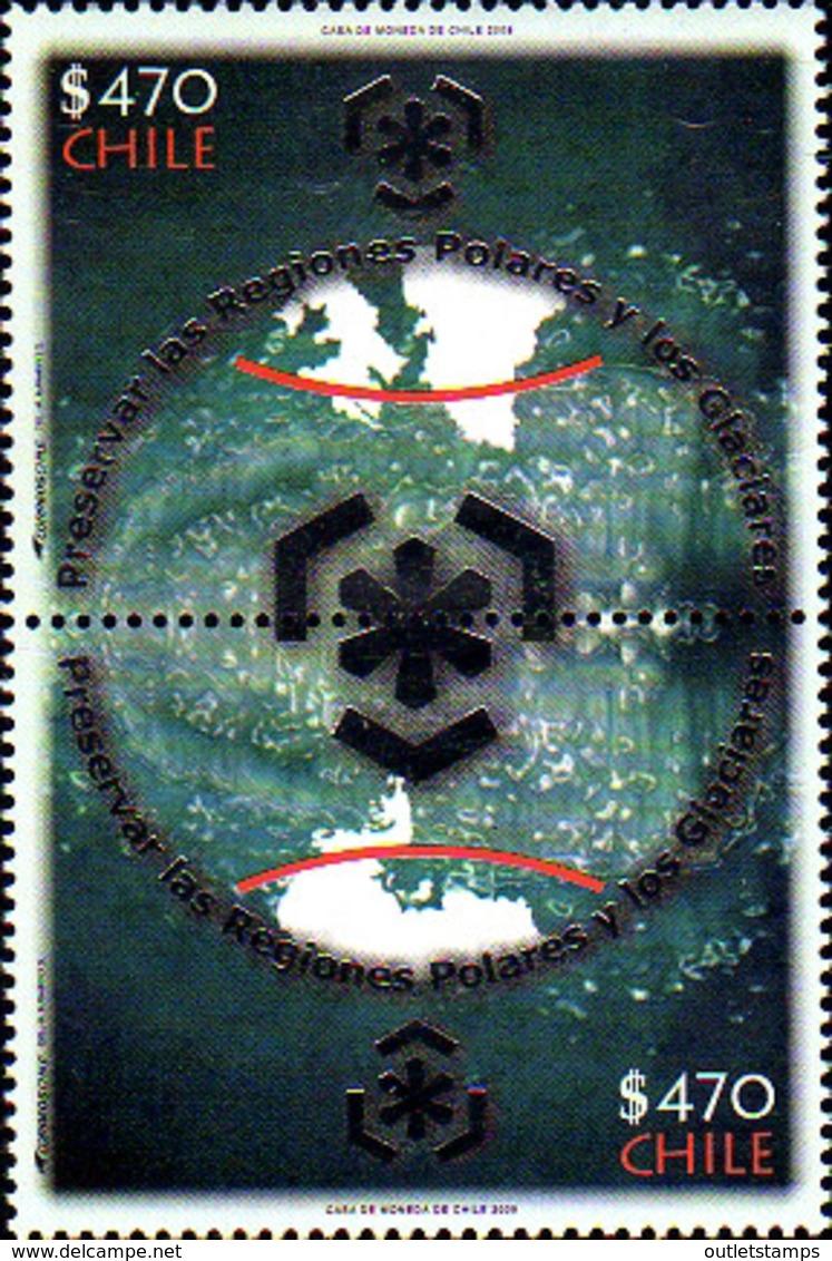 Ref. 232375 * NEW *  - CHILE . 2009. PROTECTION OF POLAR ZONES AND GLACIARS. PROTECCION DE LAS ZONAS POLARES Y DE LOS GL - Chile