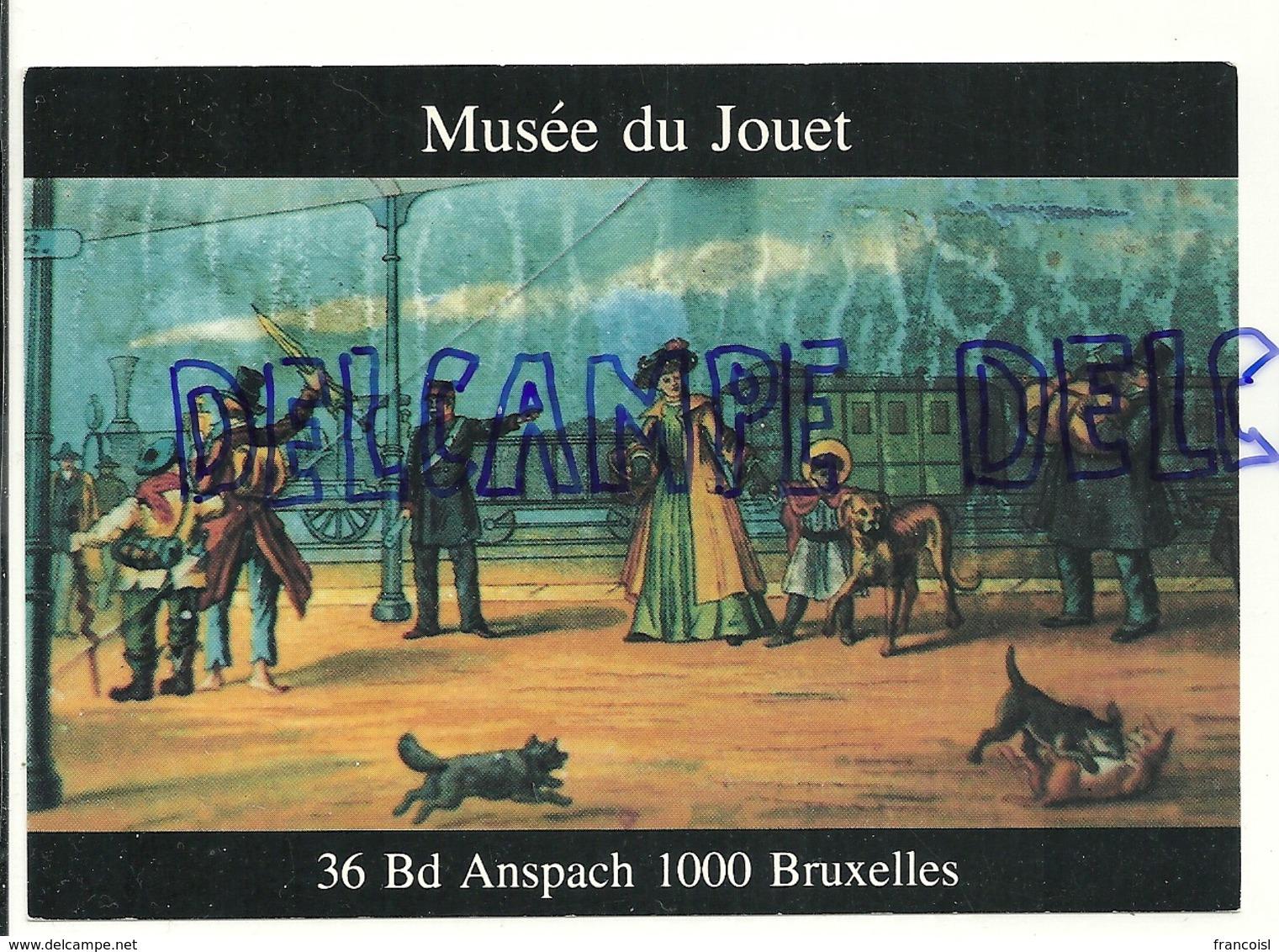 Musée Du Jouet. Lanterne Magique. Détail De La Plaque Chromolithographique. DEMBLA - Jeux Et Jouets
