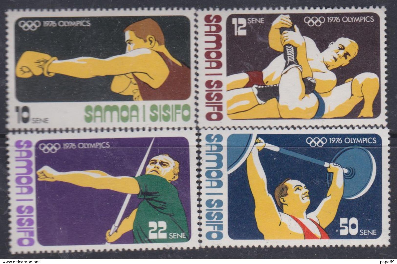 Samoa N° 376 / 79 XX Jeux Olympiques De Montréal : Les 4 Valeurs Sans Charnière, TB - Samoa