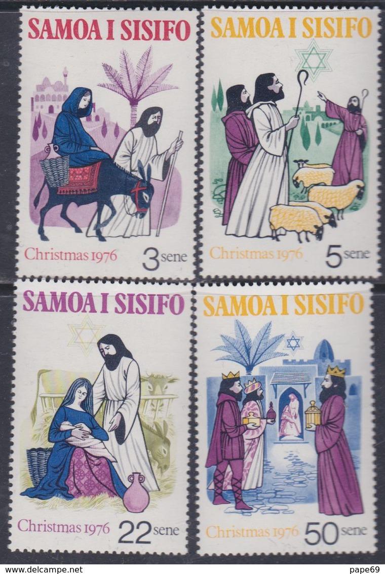 Samoa N° 380 / 83 XX  Noël : Les 4 Valeurs Sans Charnière, TB - Samoa
