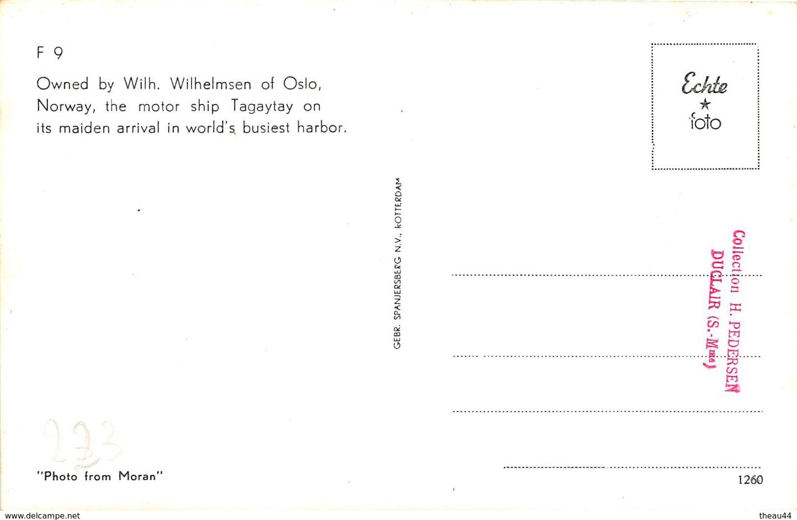 """¤¤  -   Carte-Photo Du Bateau De Commerce """" TAGAYTAY """"  -  Cargo       -   ¤¤ - Commerce"""