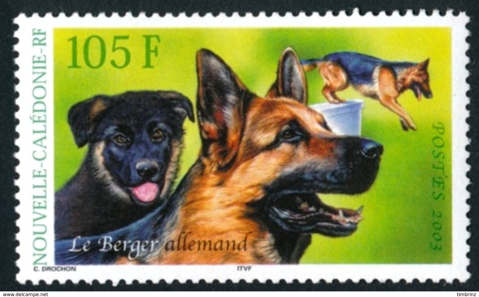 NOUV.-CALEDONIE 2003 - Yv. 905 NEUF   Faciale= 0,88 EUR - Chien Berger Allemand  ..Réf.NCE24261 - Nueva Caledonia