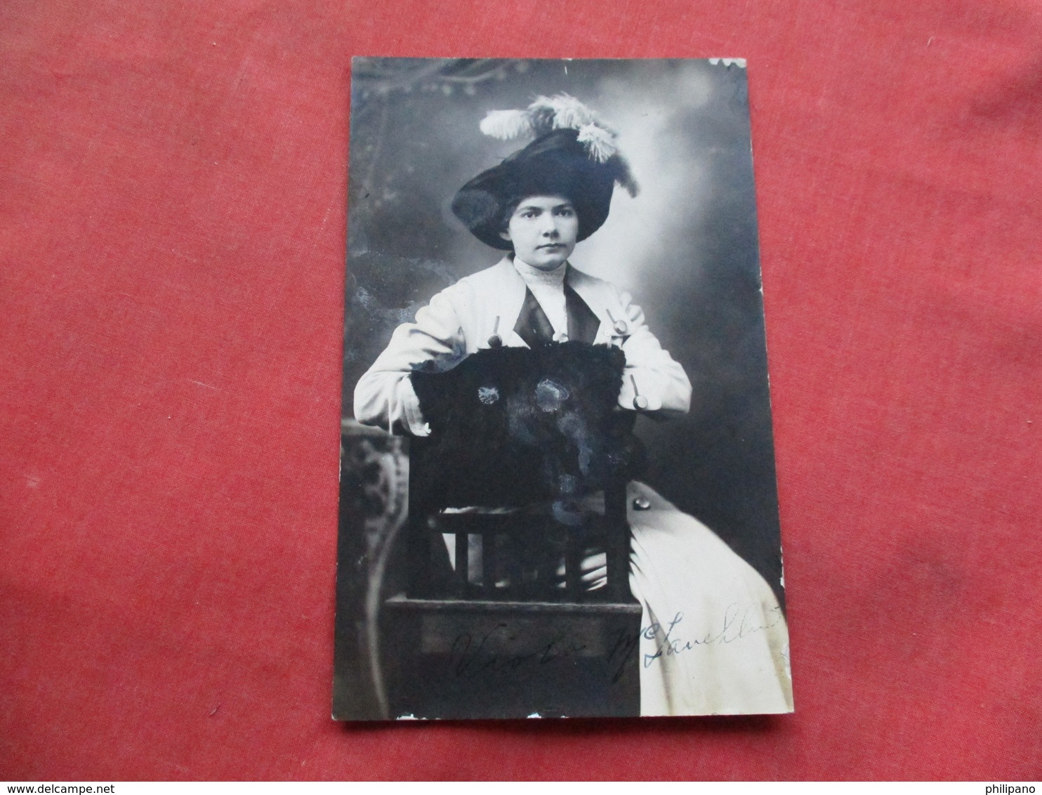RPPC  Female With Hat  Signed On Bottom  Fashion   Ref 3257 - Fashion