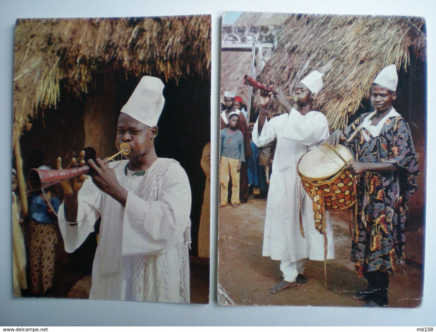 Afrique Nigeria Musiciens 2 Cartes - Nigeria