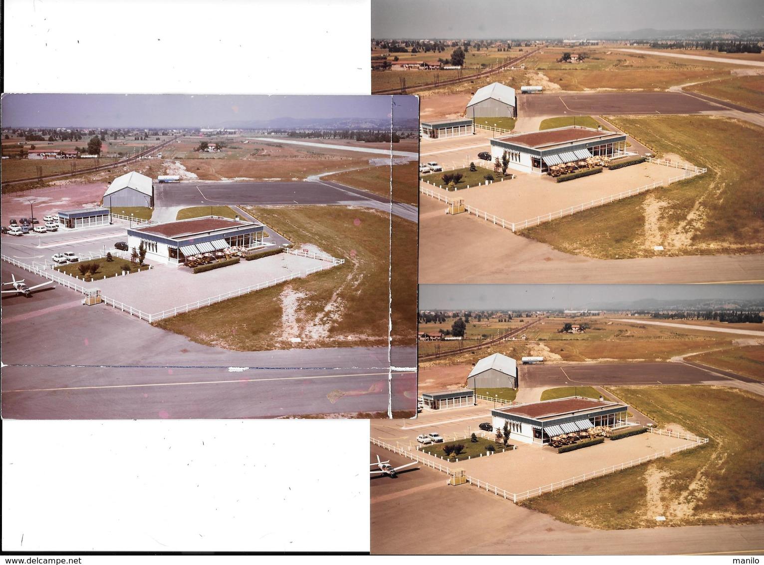 ANDREZIEUX-BOUTHEON (Hte-Loire) AEROPORT DE ST ETIENNE  Vue Aérienne - 3 Photos Originales An.60-COMBIER CIM Imp à Macon - Aviation