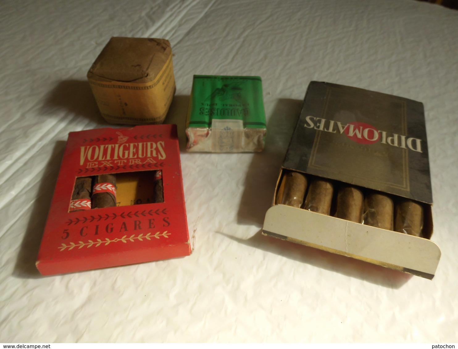 Lot 4 Marques Cigarettes Et Cigares états Collection Périmée. - Tabac (objets Liés)
