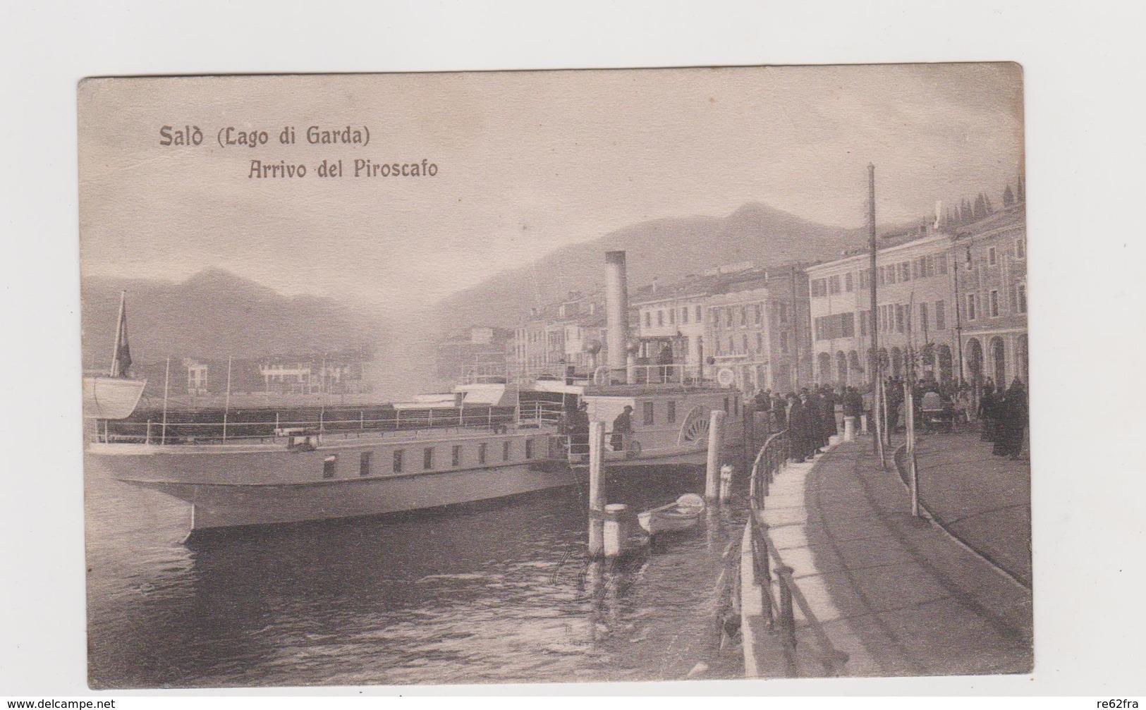 SALO' (BS) , Arrivo Del Piroscafo , Ediz. Modiano - F.p. -  Anni '1905-'1908 - Brescia