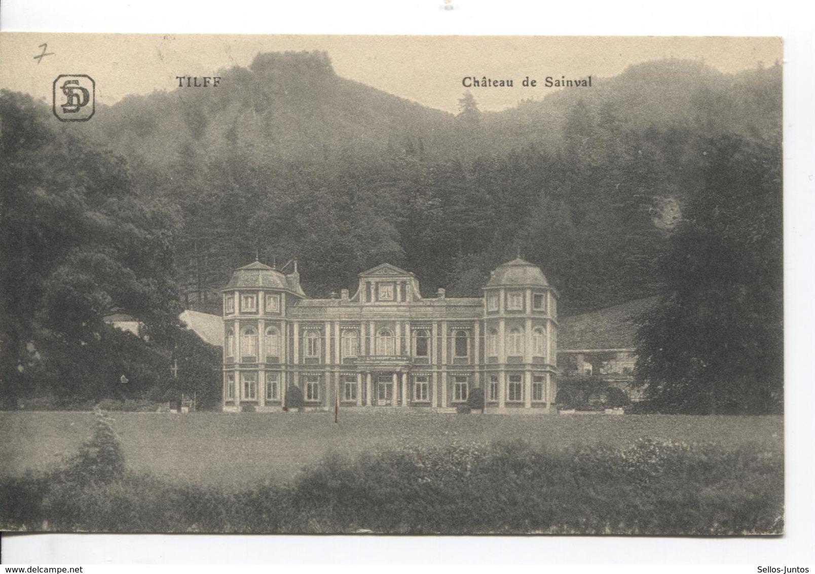 SJ87/ TP Oc 14 S/CP Château De Sainval (Tilff) C.Tilff 1916 Censure Lüttich V.Berlin - Guerre 14-18