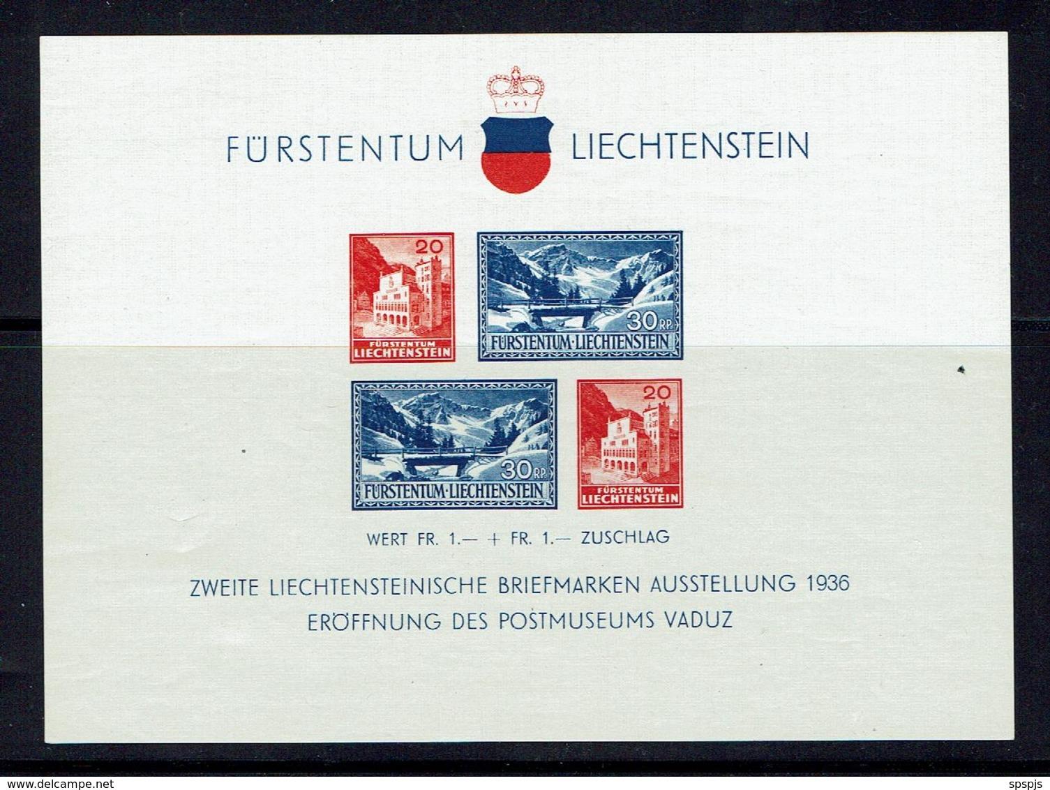 LIECHTENSTEIN...1936...MNH...Cat Val + $70.00 - Blocks & Sheetlets & Panes