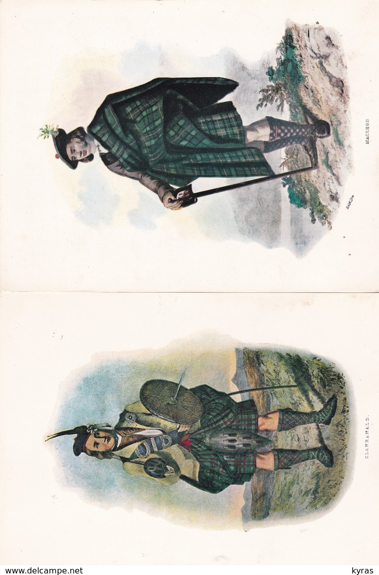 Lot 5 Images 15 X 20,5 Très Belles REPRO De Costumes écossais : Macleod, Clanranad, Cameron, Mac Lean , Buchanam - Old Paper