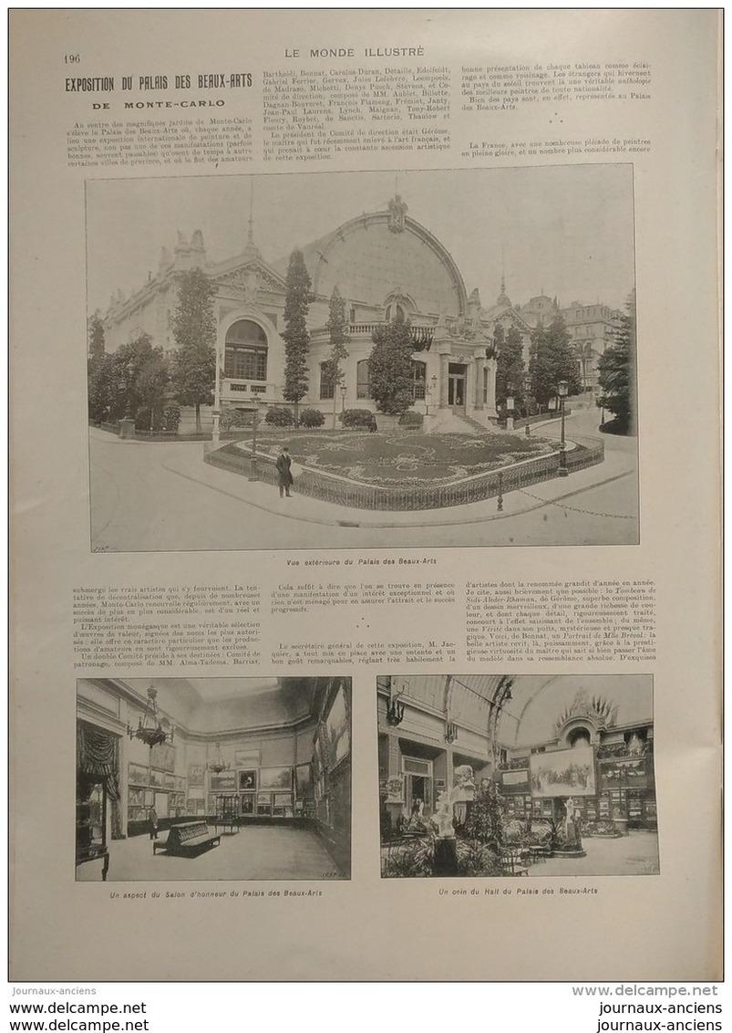 1904 EXPOSITION DU PALAIS DES BEAUX ARTS DE MONTE CARLO - Livres, BD, Revues