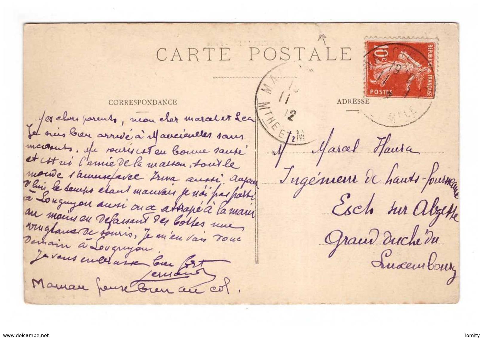 54 Mancieulles La Poste Cpa Carte Animée Cachet 1912 , Voir état Ci Dessous - Francia