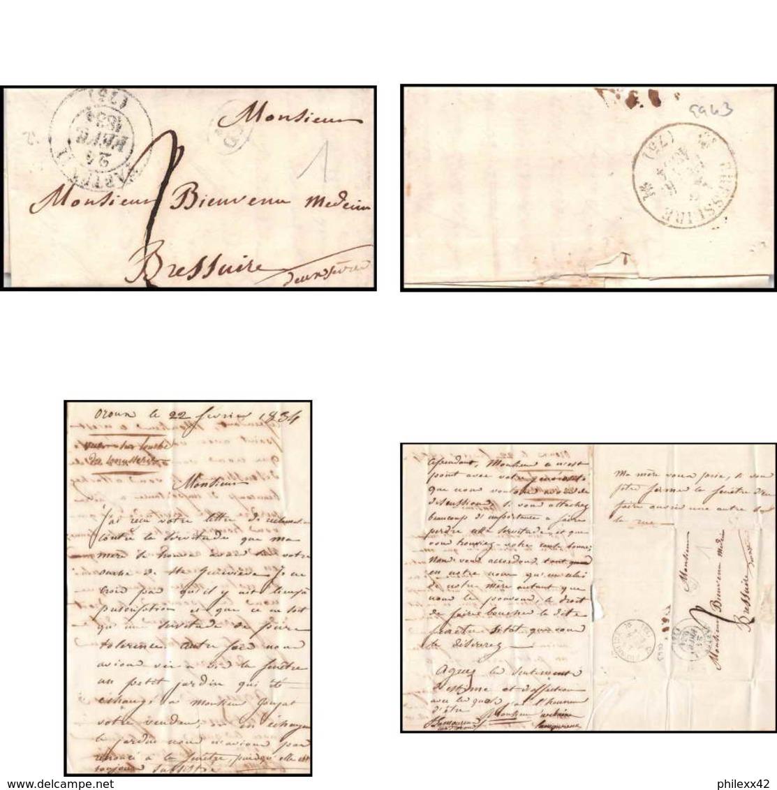 9943 Lac Oroun 1834 Pour Bressuire Deux-Sèvres Marque Postale France Lettre Cover - Storia Postale