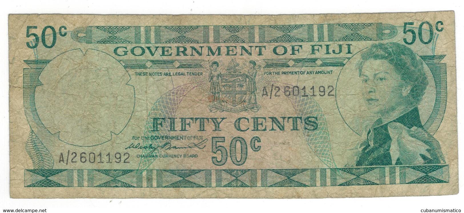 Fiji, 50 Cents, VG. - Fidji