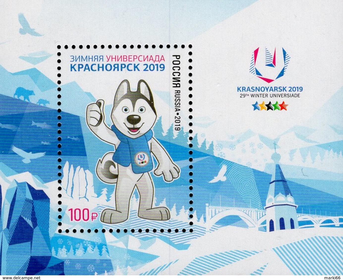 Russia - 2019 - 29th Winter Universiade 2019 In Krasnoyarsk - Mint Souvenir Sheet - 1992-.... Federation
