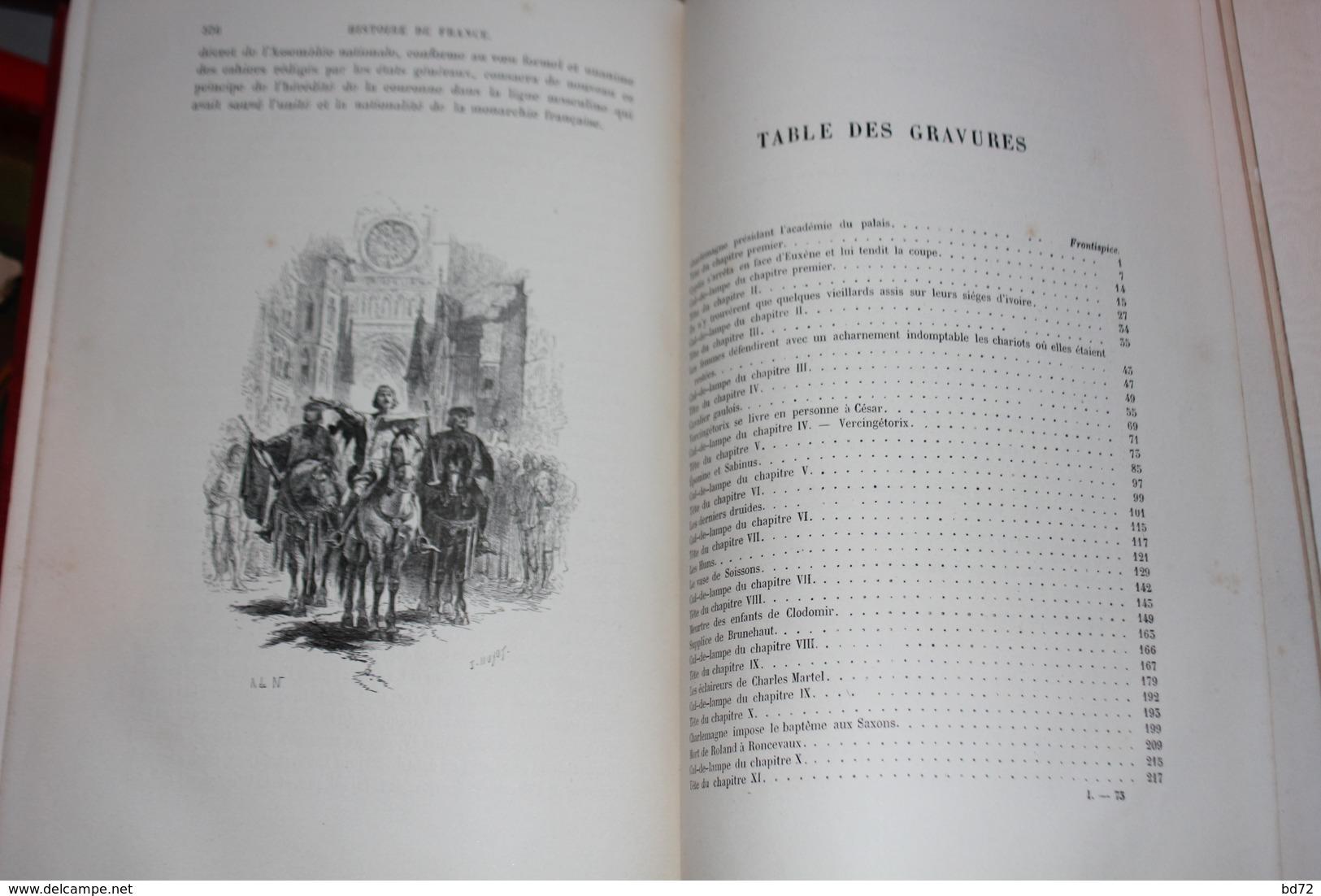""""""" L' HISTOIRE DE FRANCE """" Par M. GUIZOT ( 1875 ) - Livres, BD, Revues"""