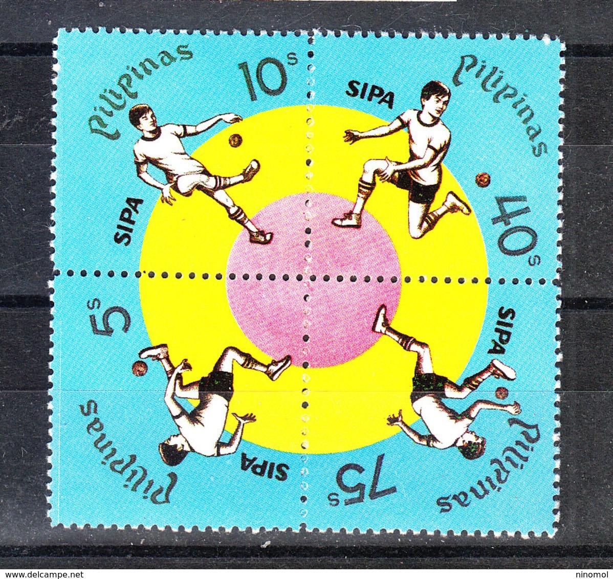 """Filippine  Philippines  - 1978. Gioco Della Sipa. """" Sipa """" National Sport. Complete MNH Series - Giochi"""