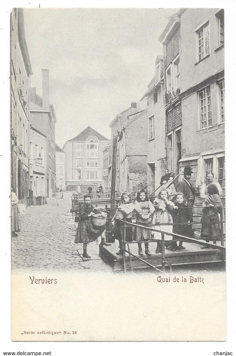 Cpa: BELGIQUE - VERVIERS - Quai De La Batte (animé, Précurseur) N° 16 - Verviers