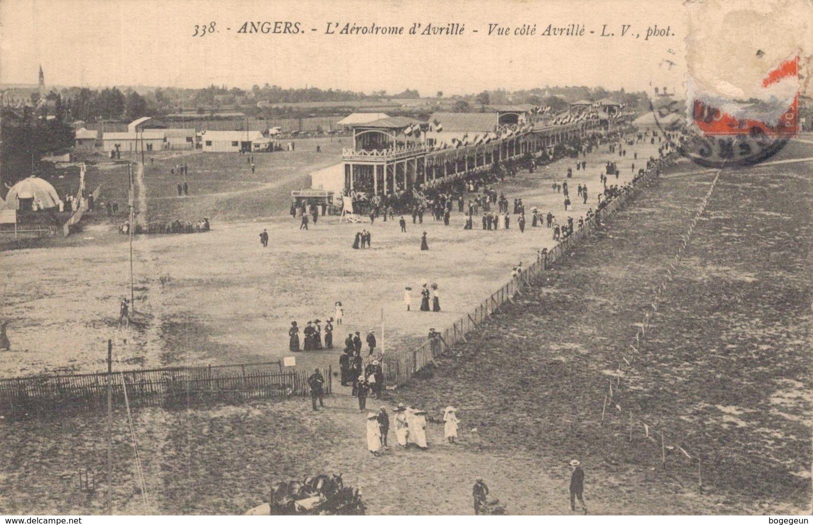 49 338 ANGERS L'Aérodrome D'Avrillé Vue Coté Avrillé - Angers