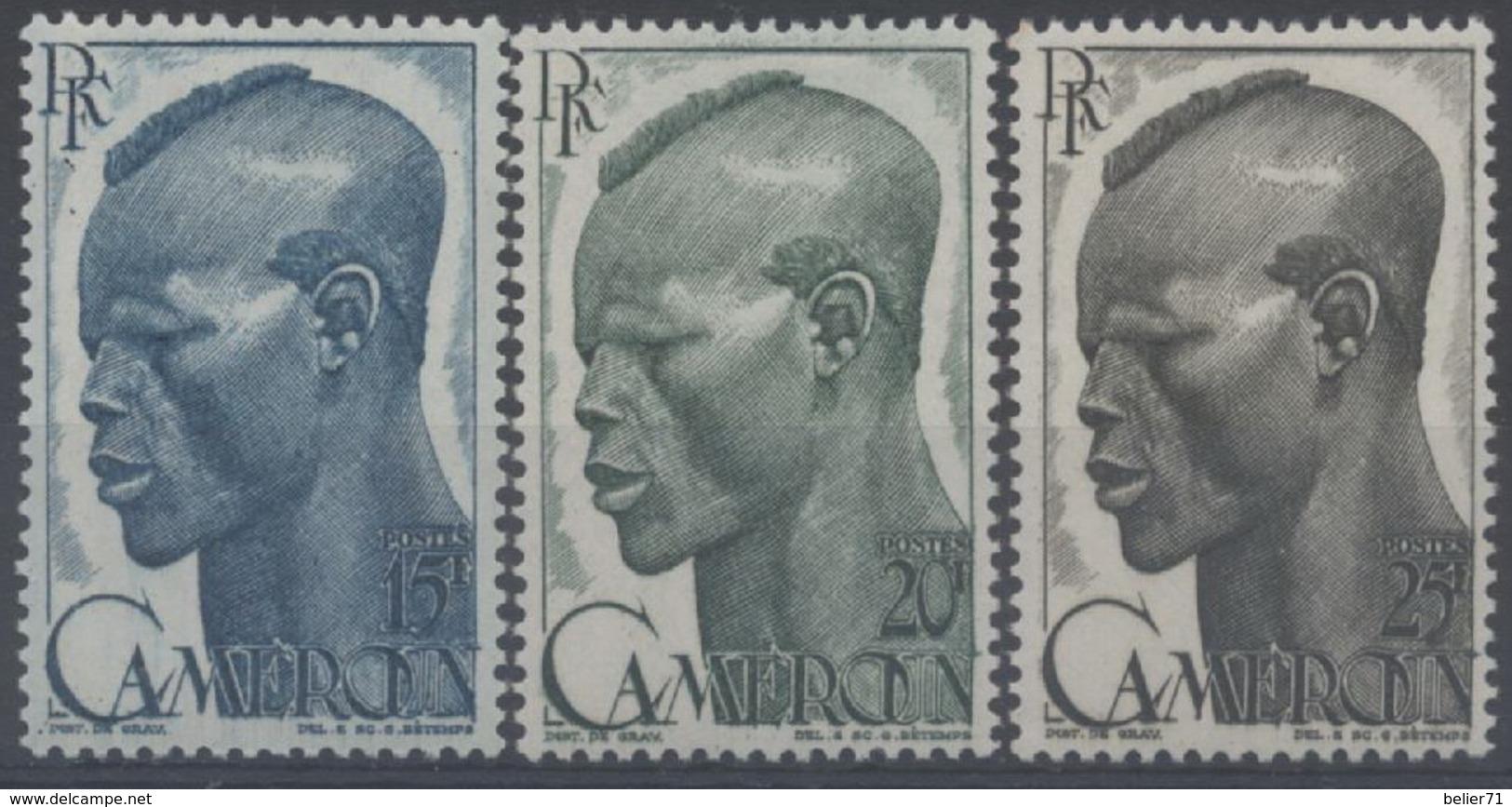 France, Cameroun : N° 292 à 294 X Neuf Avec Trace De Charnière Année 1946 - Cameroun (1915-1959)