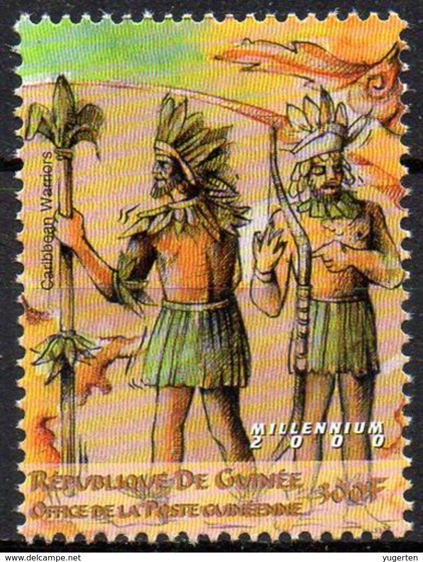 GUINEA 1v MNH**  Caribbean Warriors Archer Archery Hunting Bogenschießen Tiro Al Arco Tir à L'arc Armes - Militaria