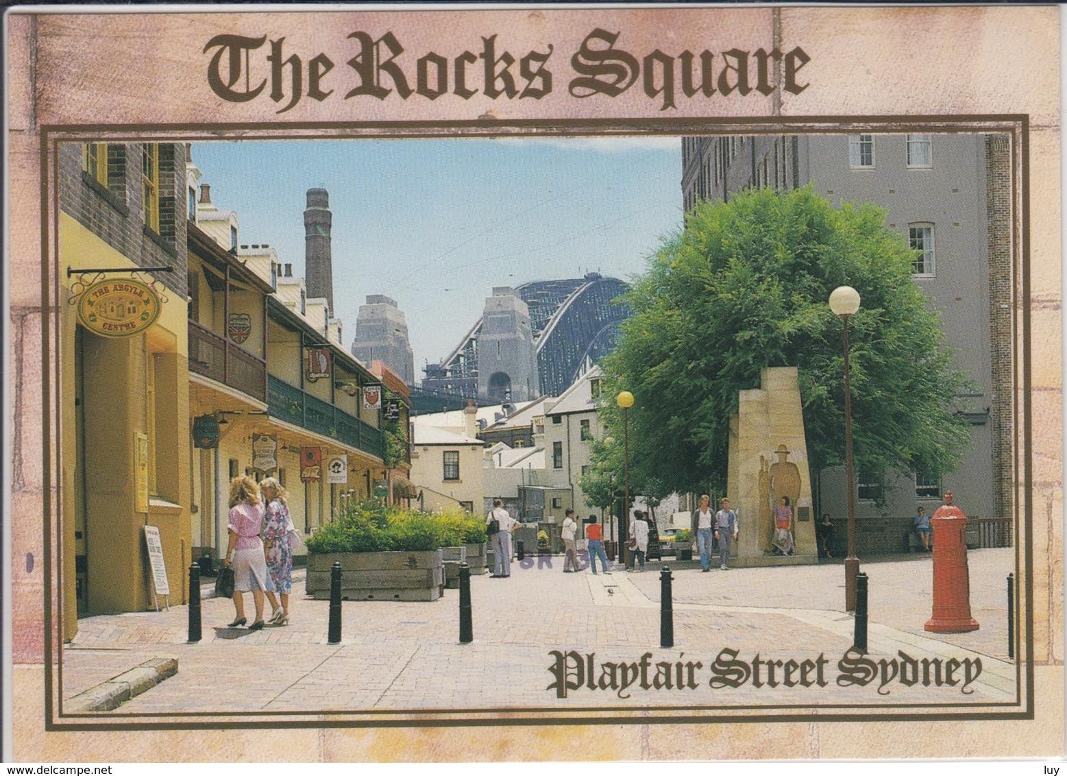 SYDNEY  NSW  Playfair Street In Sydne's Rocks Area, Victorian And Edwardian Houses Line  Used - Sydney