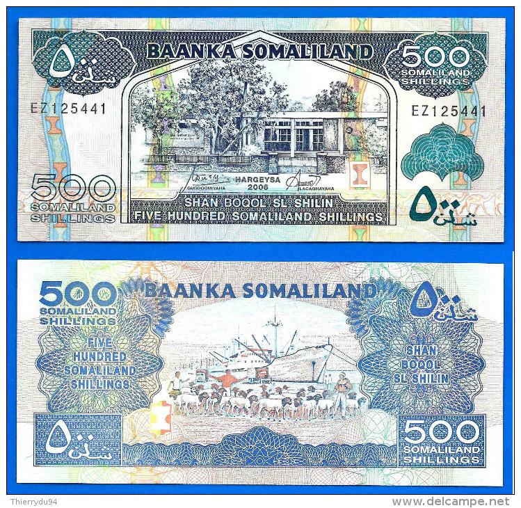 Somaliland 500 Shillings 2011 Neuf UNC Shilin Billet Prefix LG Afrique Africa Paypal Skrill Bitcoin - Somalia