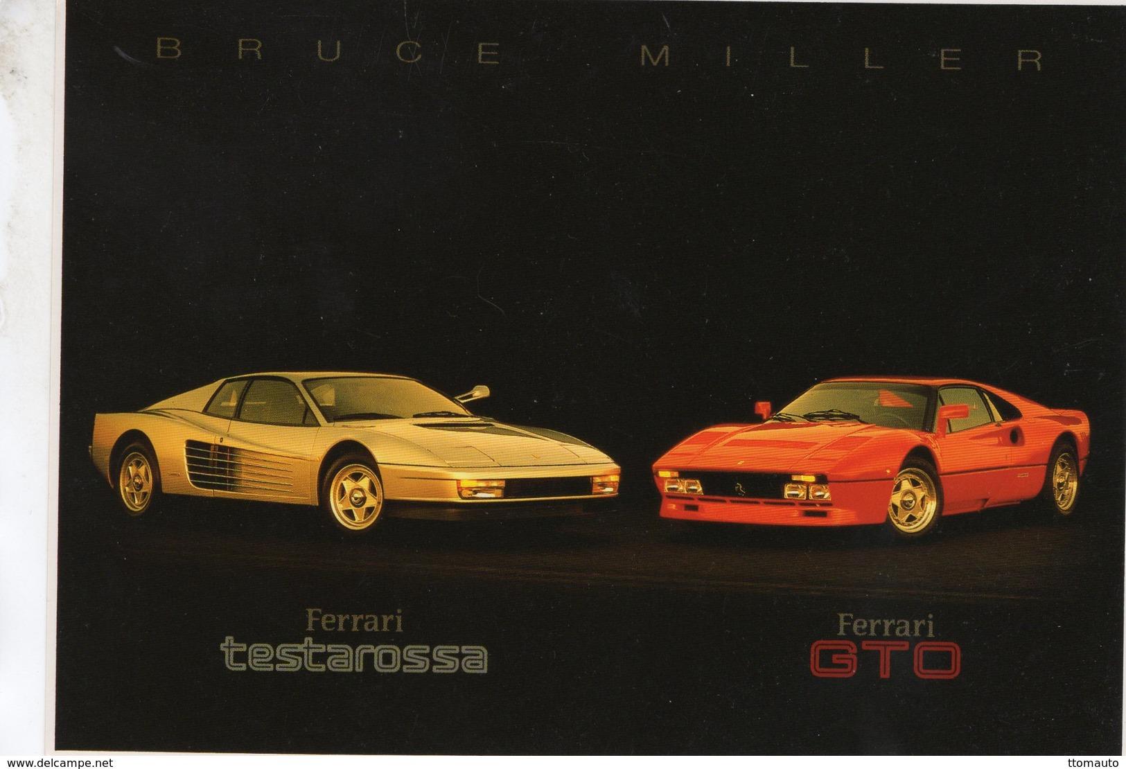 Ferrari Testarossa  -  Ferrari GTO  -  Photography Bruce Miller  -  Carte Postale - Turismo
