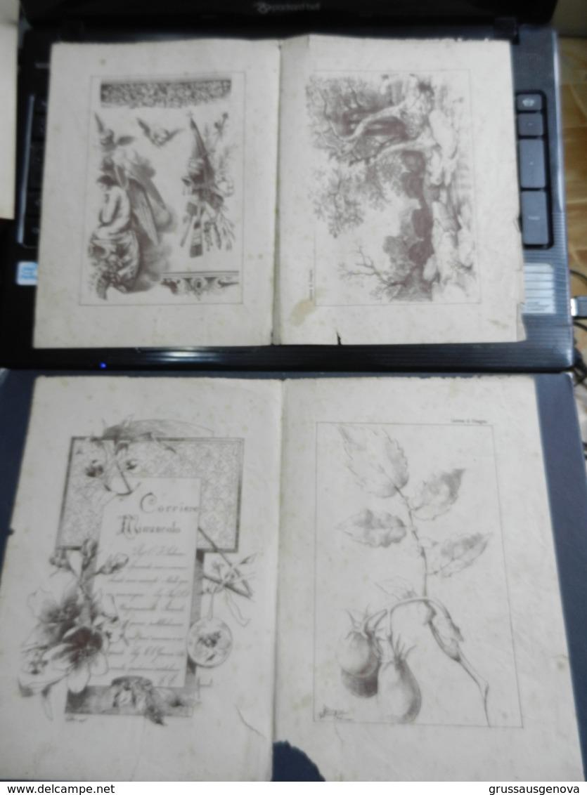 8g) ARTE MINUSCOLA LEZIONE DI DISEGNO ANNO 3 N° 45 DUE FOGLI CON VARIE IMMAGINI RICORDI DALLA RUSSIA - Libri, Riviste, Fumetti