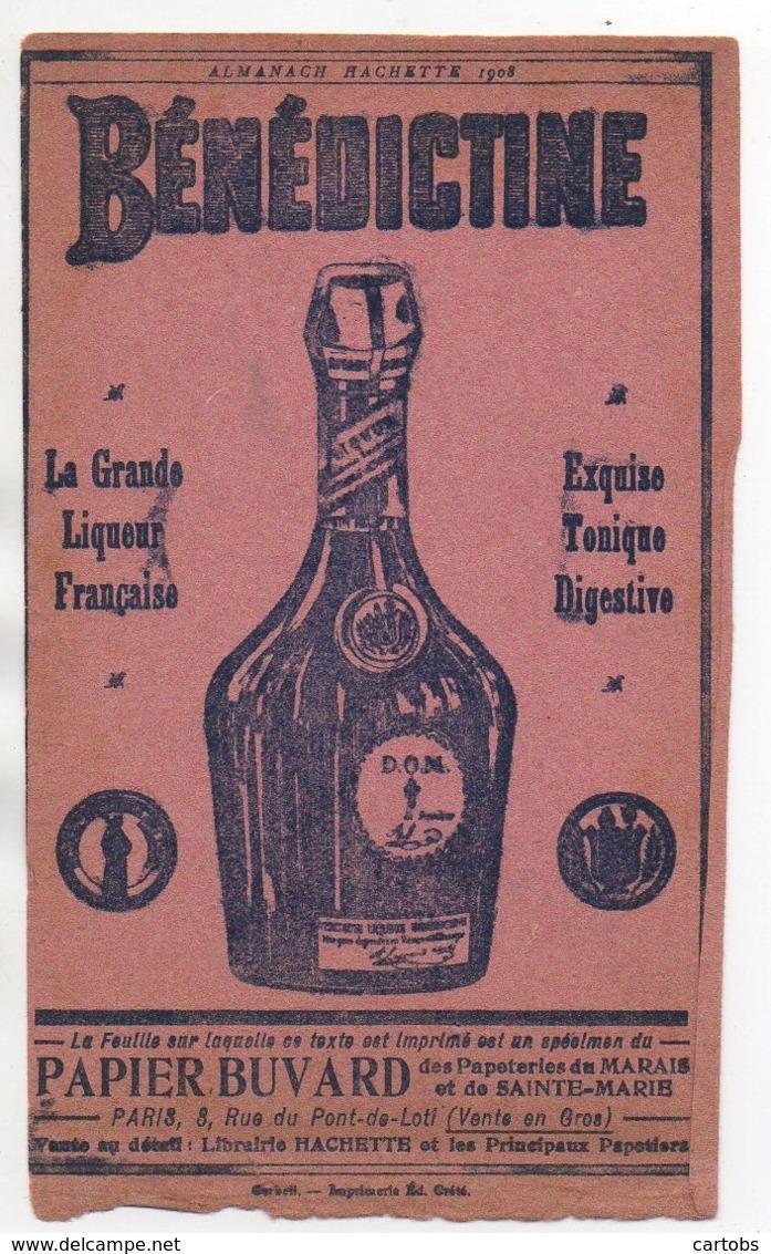 Buvard Vente De Bénédictine  (Almanach Hachette 1908) - Agriculture