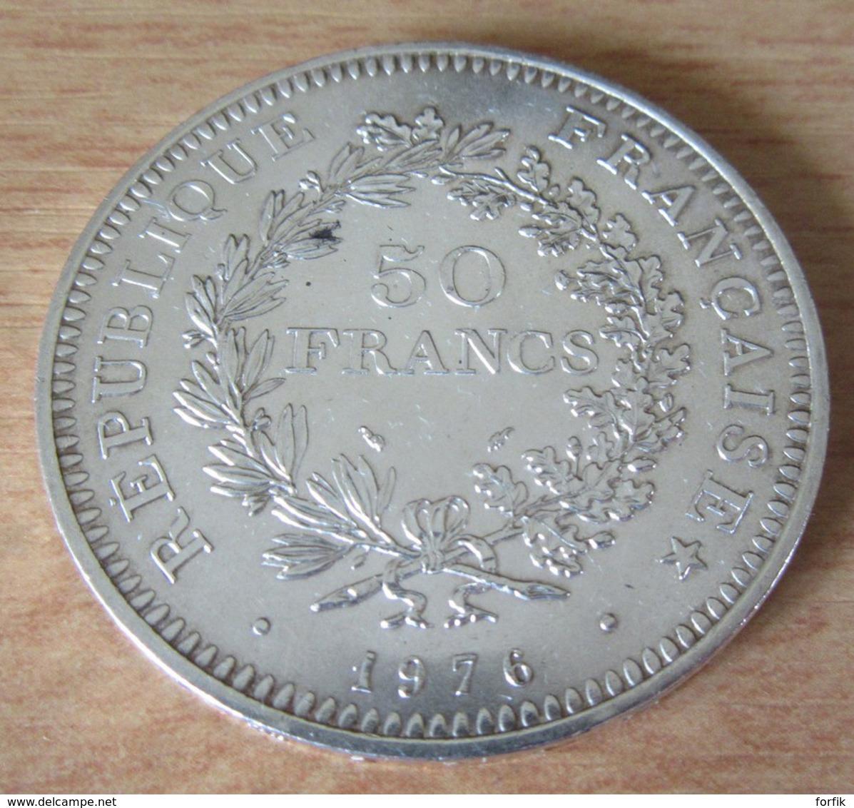 France - Monnaie 50 Francs Hercule 1976 En Argent - SUP - France