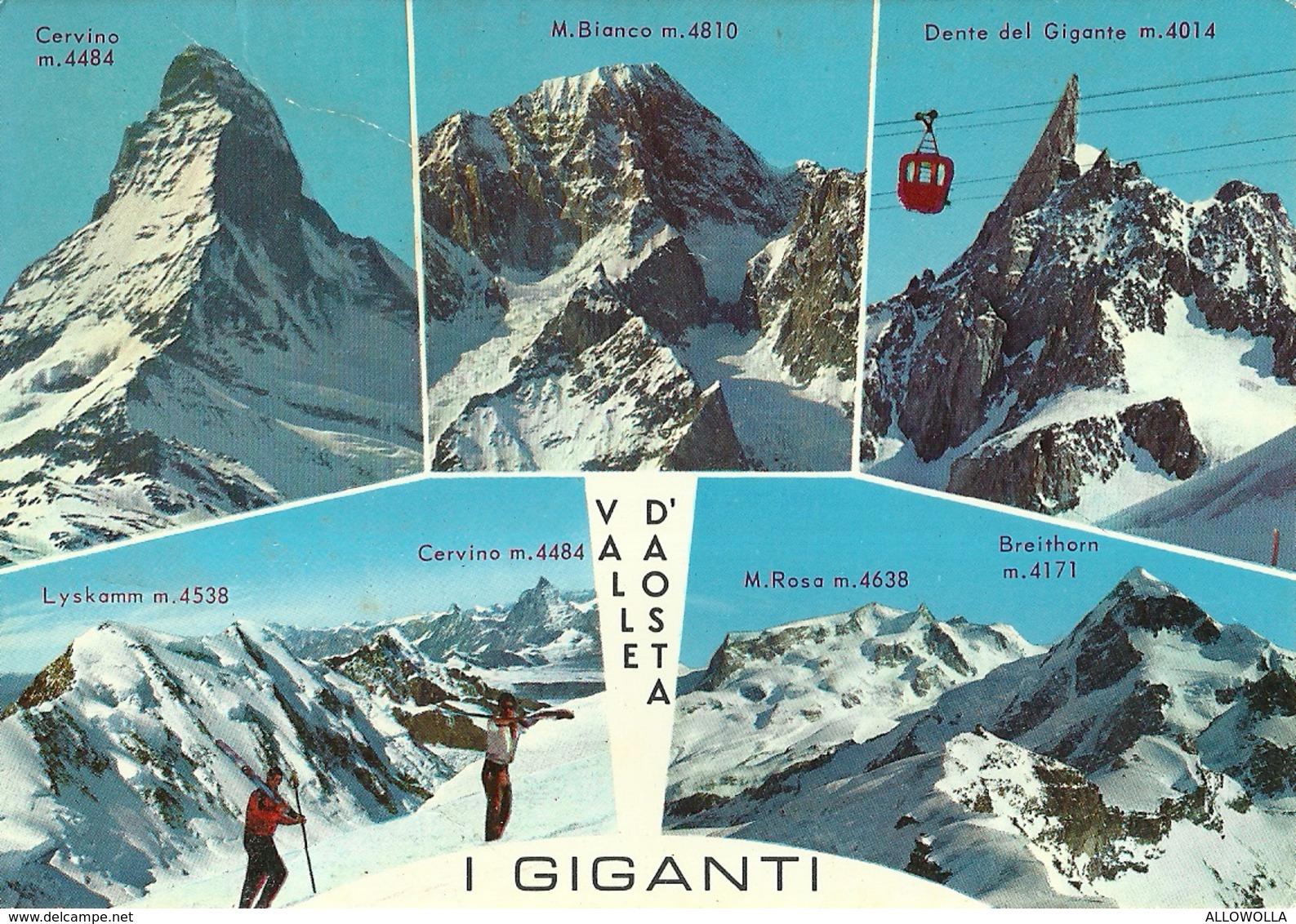 "3115 "" VALLE D'AOSTA-I GIGANTI "" 5 VEDUTE CART. POST. ORIG. SPED.1976 - Unclassified"