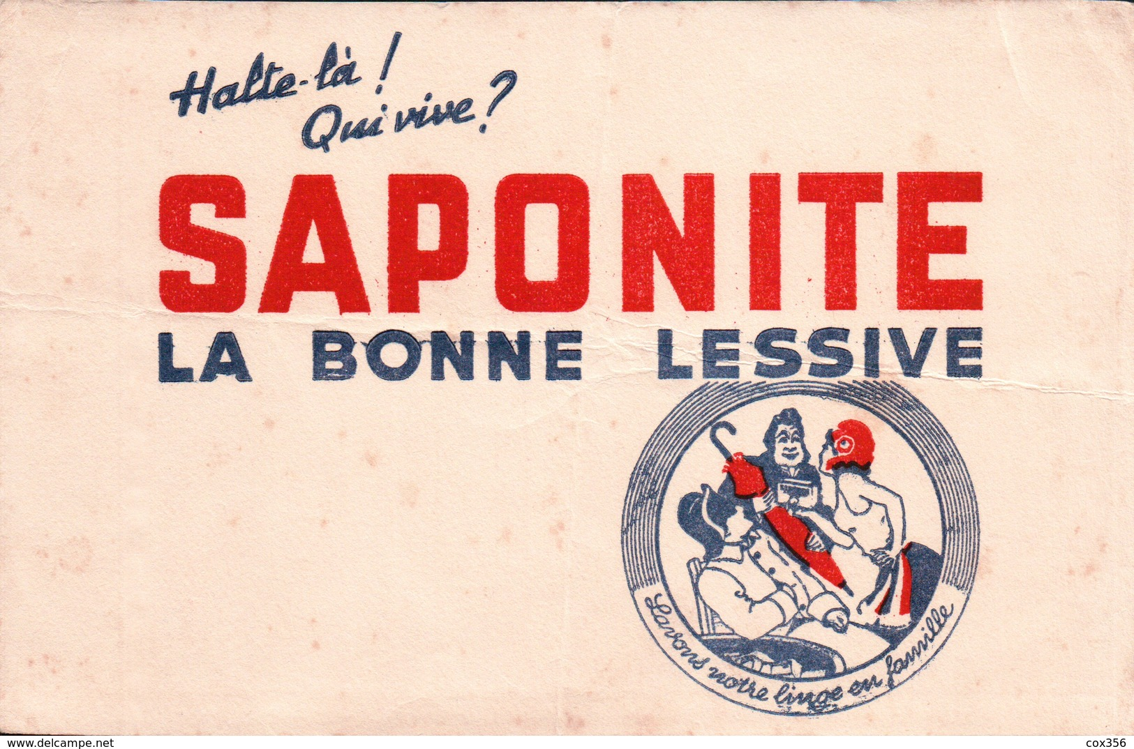 Ancien BUVARD Illustré SAPONITE - Buvards, Protège-cahiers Illustrés