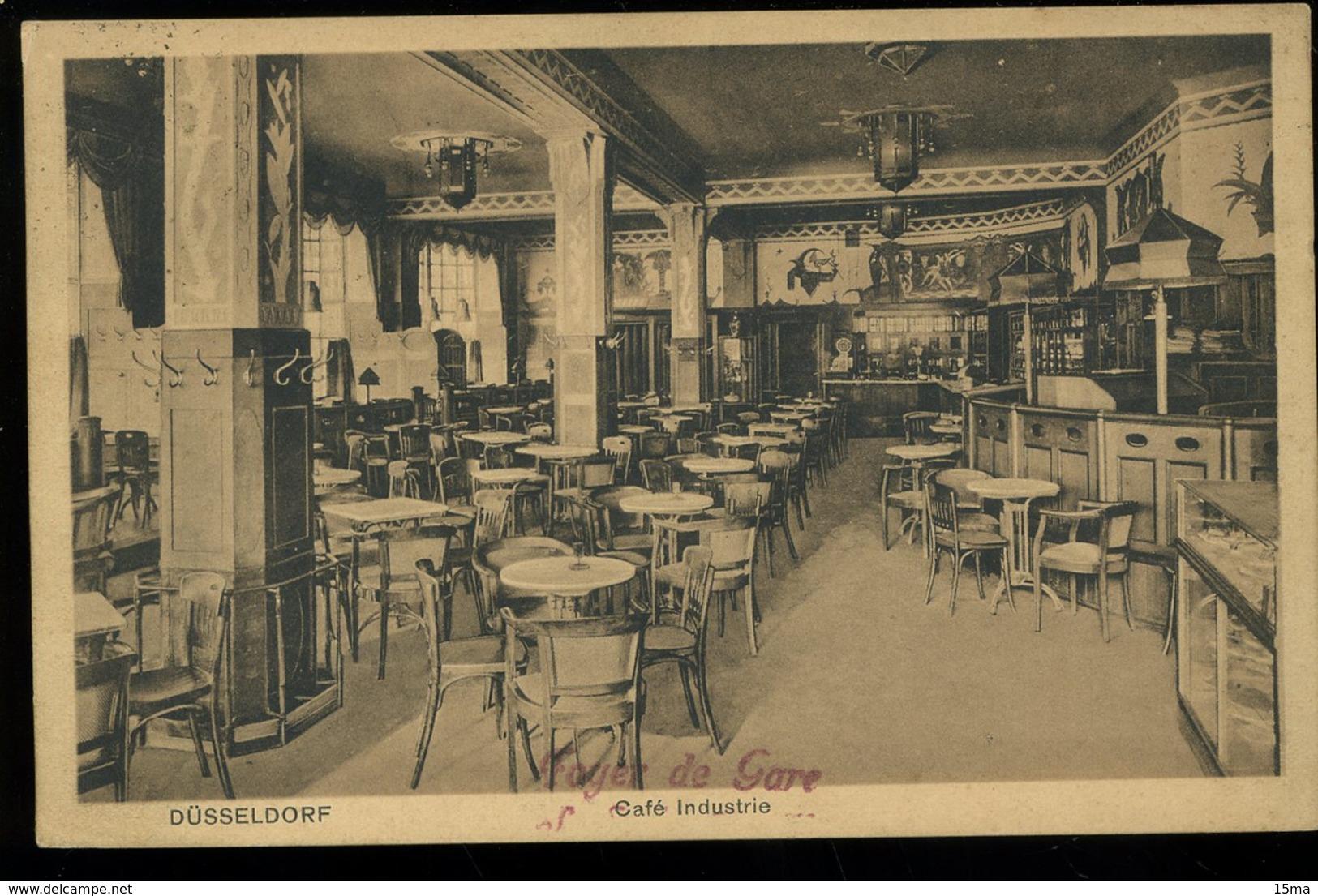 Dusseldorf Café Industrie Wilhelmplatz 1924 Paul Voigt - Duesseldorf