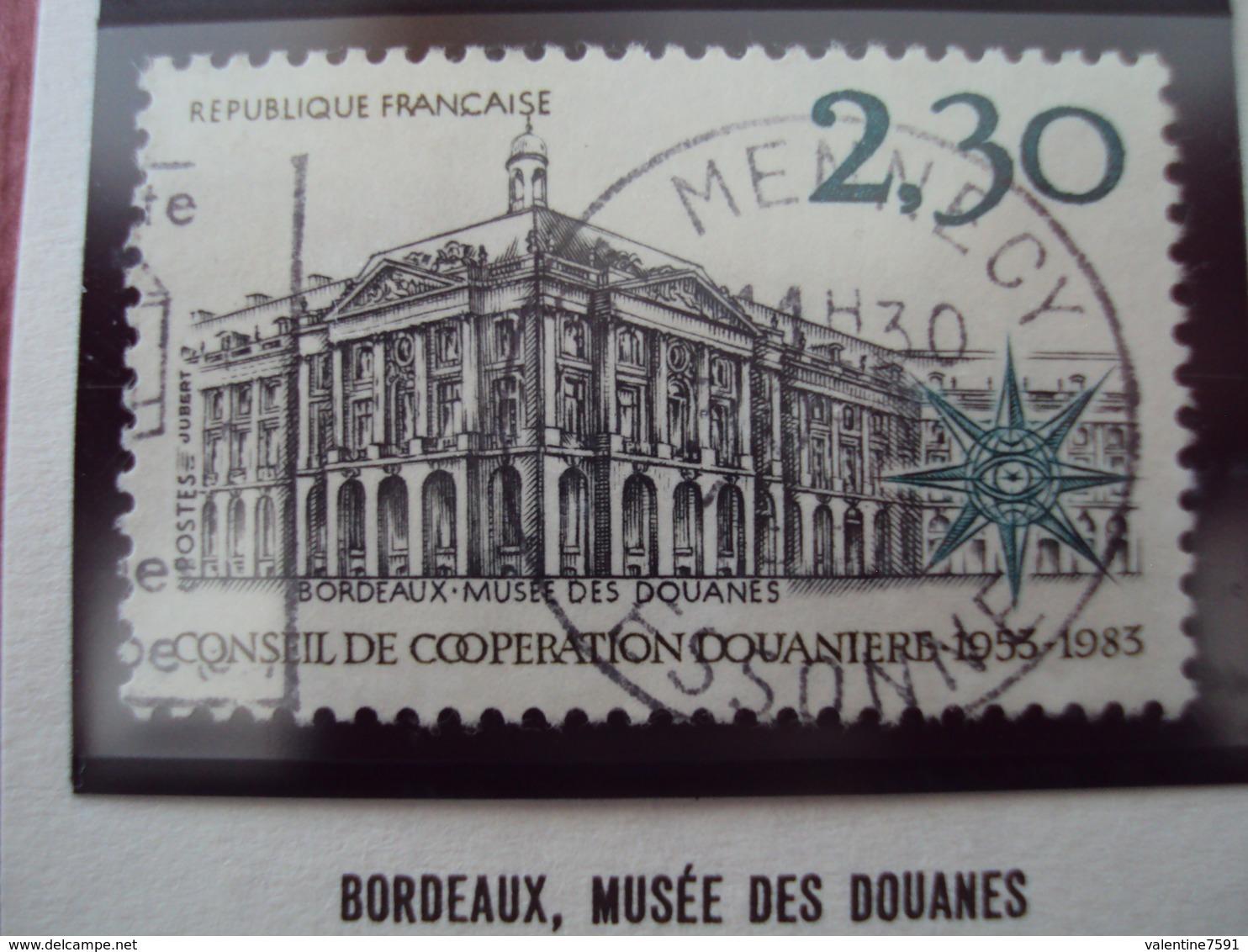 """80-89-  Timbre Oblitéré  N°  2289   """"  Bordeaux, Musée Des Douanes    """"    0.40 - France"""