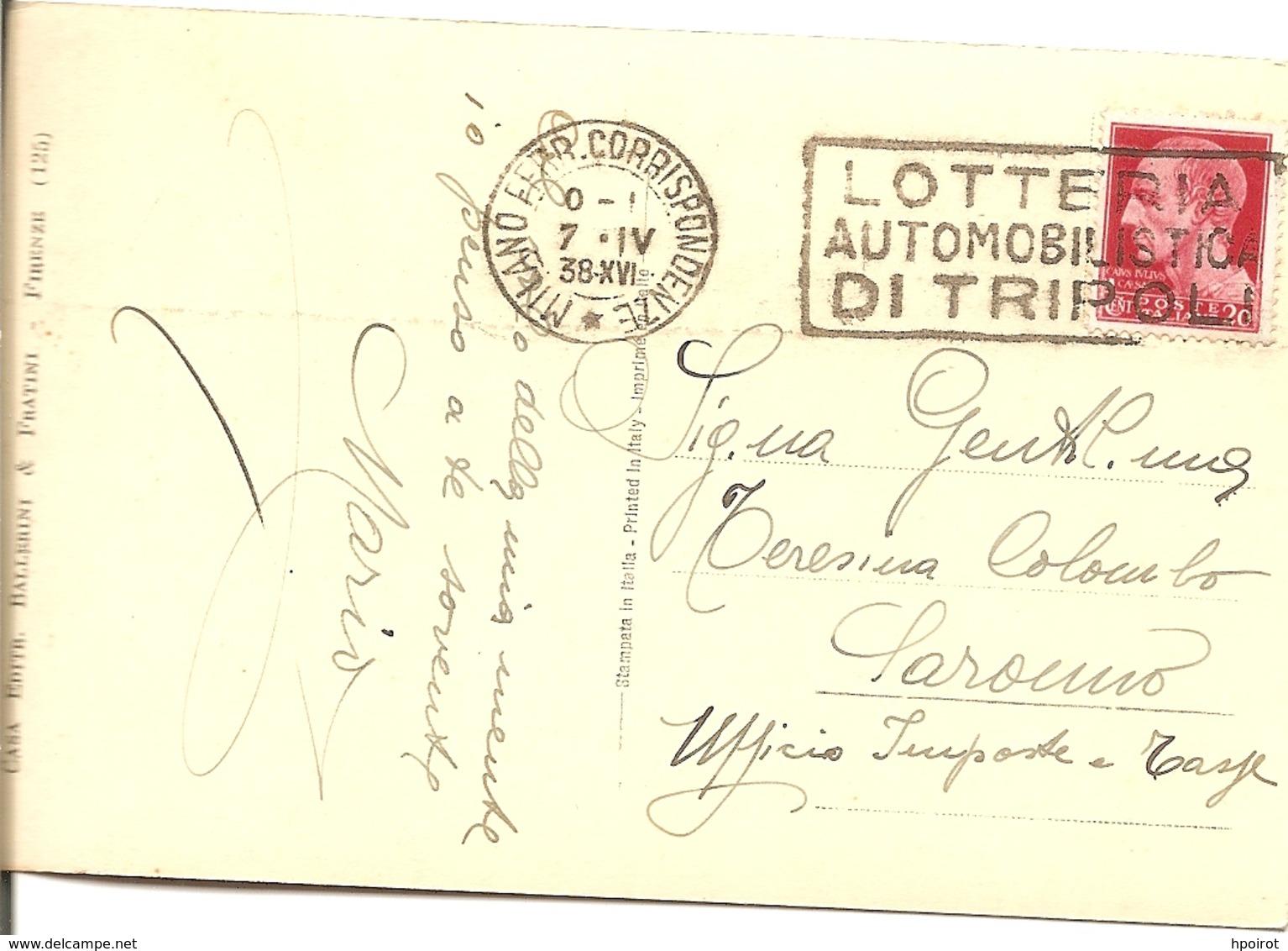 GRETA GARBO - FORMATO PICCOLO - VIAGGIATA 1938 - (rif. H97) - Attori
