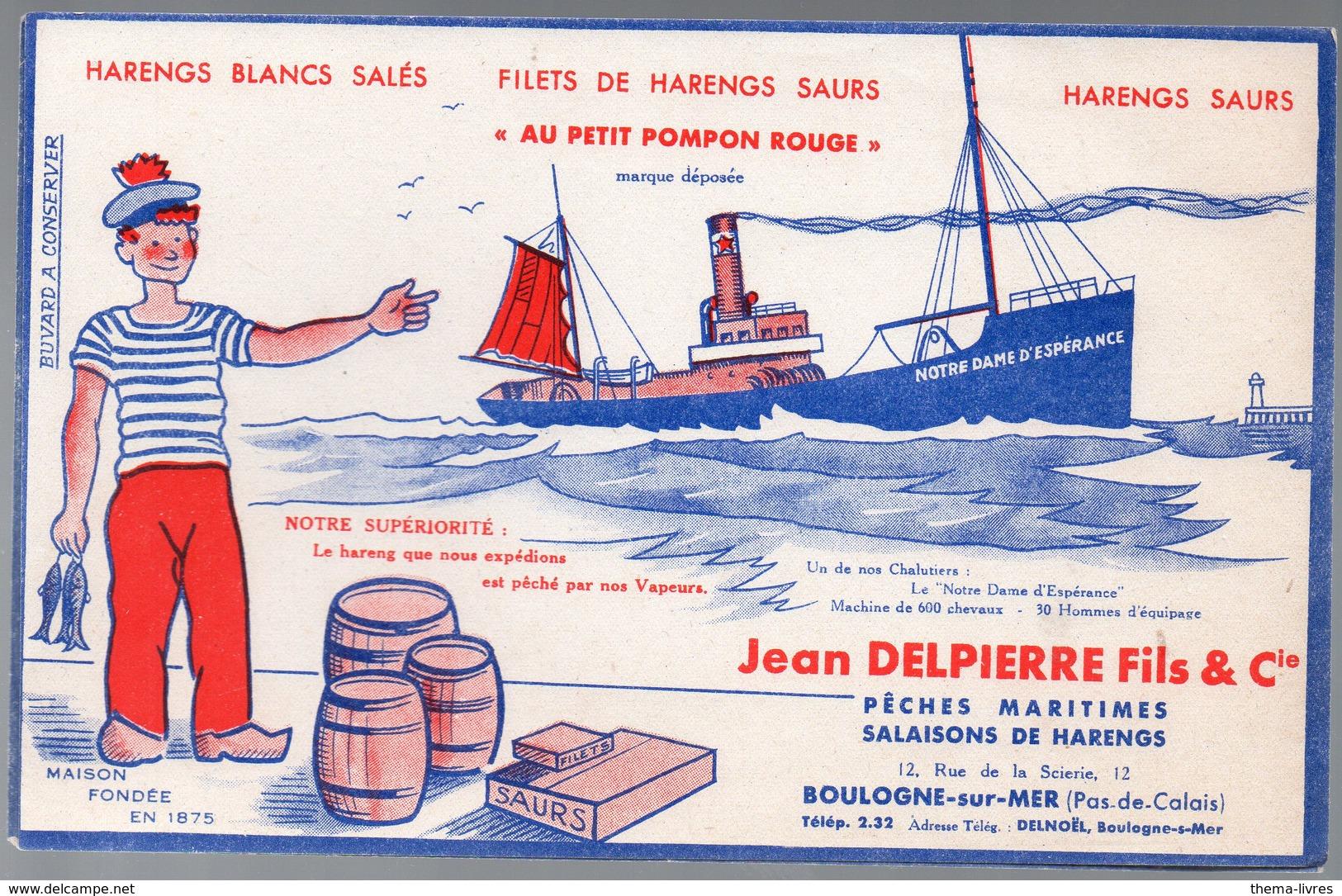 Boulogne Sur Mer (62 Pas De Calais) Buvard JEAN DELPIERRE Salaisons  (PPP10507) - Alimentaire
