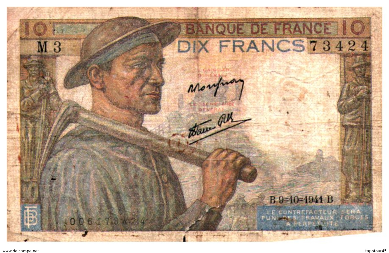 Billet  > France > 10 Francs 1941 - 1871-1952 Circulated During XXth