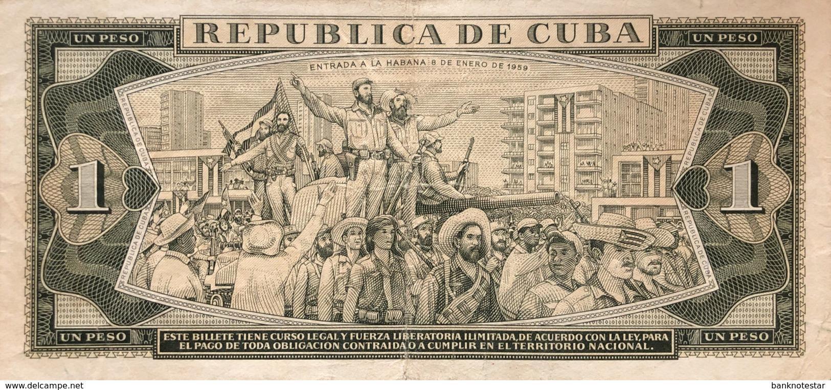 Cuba 1 Peso, P-94a (1961) - Fine + - CHE Signature - Cuba