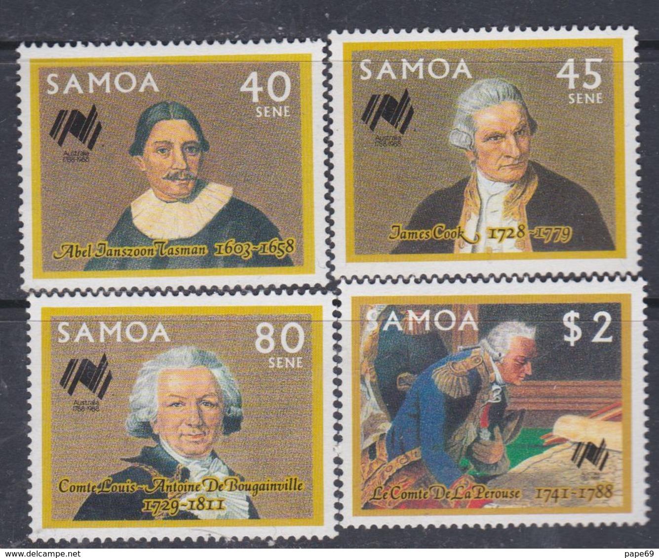Samoa N° 636 / 39 XX Bicentenaire De L'implantation Des Premiers Colons En Australie,  Les 4 Valeurs Sans Charnière, TB - Samoa